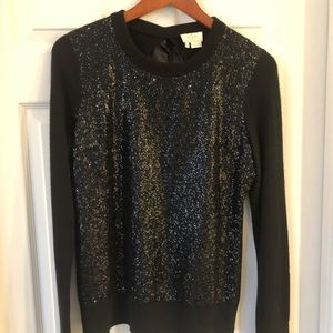 Kate Spade sequined sweater with tie back